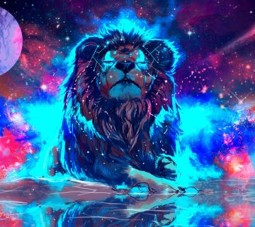Geometric Lion Wallpaper - Android / iPhone HD Wallpaper Background Download HD Wallpapers (Desktop Background / Android / iPhone) (1080p, 4k)