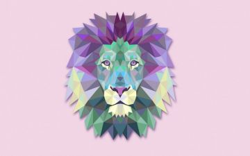 Lion Geometric Wallpaper - Android / iPhone HD Wallpaper Background Download HD Wallpapers (Desktop Background / Android / iPhone) (1080p, 4k)