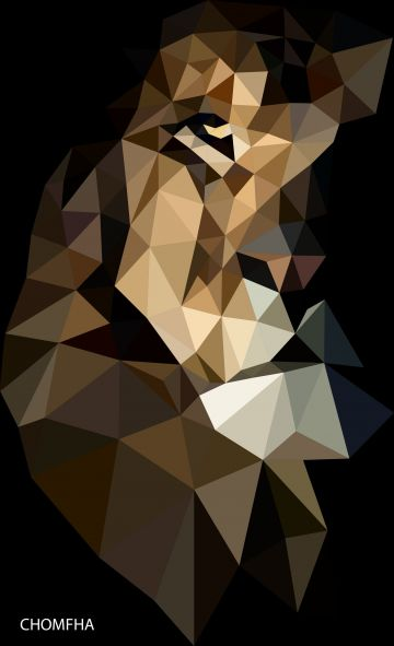 Polygon Art Abstract Bear White HD wallpaper - Android / iPhone HD Wallpaper Background Download HD Wallpapers (Desktop Background / Android / iPhone) (1080p, 4k)