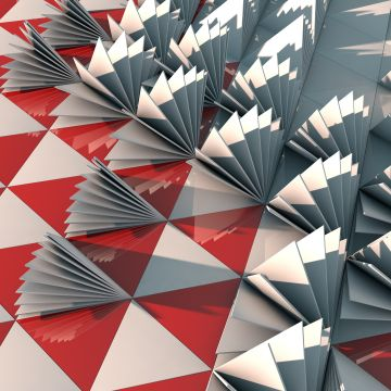 3d Triangle Red Abstract Red - Android / iPhone HD Wallpaper Background Download HD Wallpapers (Desktop Background / Android / iPhone) (1080p, 4k)