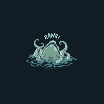 minimalistic, funny, Kraken, simple background wallpaper - Android / iPhone HD Wallpaper Background Download HD Wallpapers (Desktop Background / Android / iPhone) (1080p, 4k)