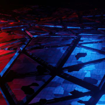 Red And Blue Broken Abstract - Android / iPhone HD Wallpaper Background Download HD Wallpapers (Desktop Background / Android / iPhone) (1080p, 4k)