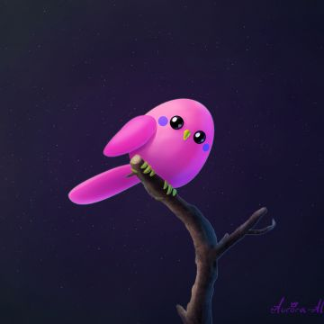 Pink Birb - Android, iPhone, Desktop HD Backgrounds / Wallpapers (1080p, 4k) HD Wallpapers (Desktop Background / Android / iPhone) (1080p, 4k)