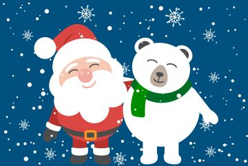 Santa Clause And Bear Friend - Android / iPhone HD Wallpaper Background Download HD Wallpapers (Desktop Background / Android / iPhone) (1080p, 4k)