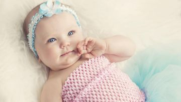 Cute Baby With Blue Eyes - Android / iPhone HD Wallpaper Background Download HD Wallpapers (Desktop Background / Android / iPhone) (1080p, 4k)