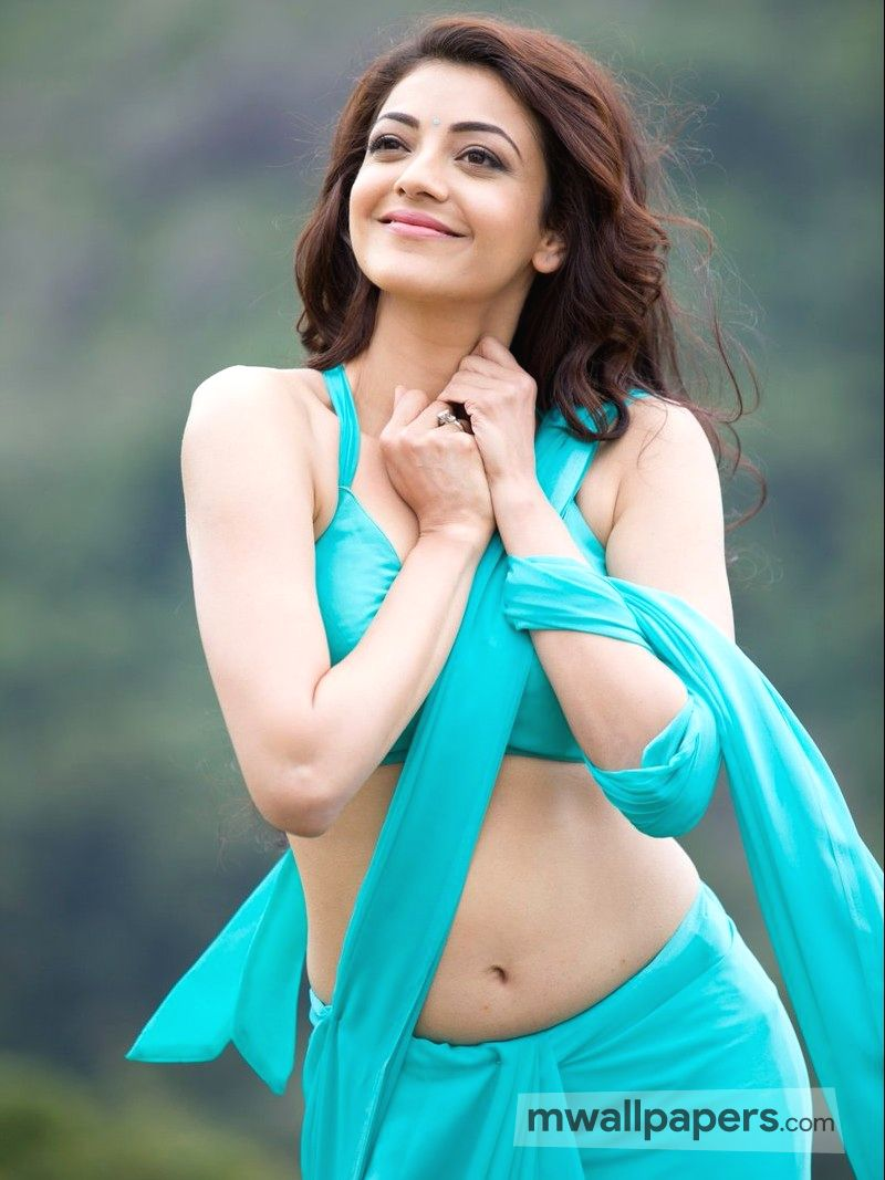 🌟 kajal agarwal hot saree hd wallpaper [android/iphone/ipad hd
