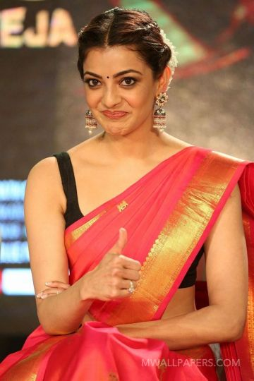 Kajal Agarwals red saree hot HD stills HD Wallpapers (Desktop Background / Android / iPhone) (1080p, 4k)