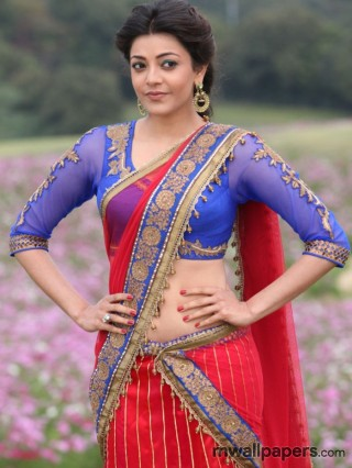 Kajal Agarwal in Saree Image HD - kajal agarwal,saree,kajal,actress,tollywood,kollywood