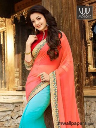 Kajal Agarwal in Saree Image HD