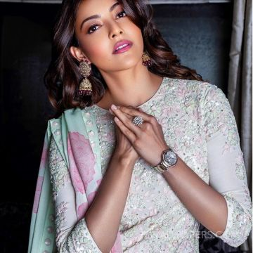 Kajal Agarwalss blue designer saree photos in HD Quality HD Wallpapers (Desktop Background / Android / iPhone) (1080p, 4k)