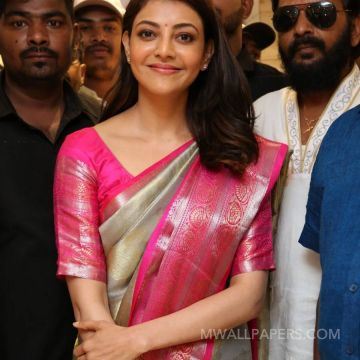 Kajal Agarwals pink silk saree stills in HD (1080p) HD Wallpapers (Desktop Background / Android / iPhone) (1080p, 4k)