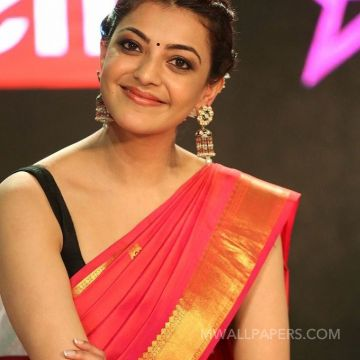 Kajal Agarwals sleeveless red saree hot HD stills HD Wallpapers (Desktop Background / Android / iPhone) (1080p, 4k)