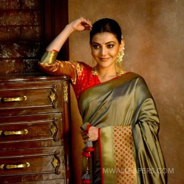 Kajal Agarwals traditioanl saree HD images HD Wallpapers (Desktop Background / Android / iPhone) (1080p, 4k)