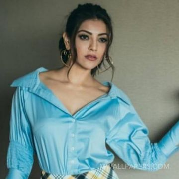 Kajal Agarwalss blue dress photos in HD Quality HD Wallpapers (Desktop Background / Android / iPhone) (1080p, 4k)