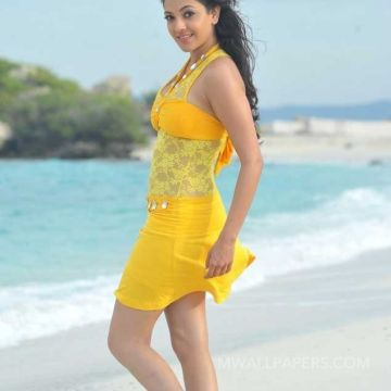 Kajal Agarwalss hot yellow beach dress photos HD Quality HD Wallpapers (Desktop Background / Android / iPhone) (1080p, 4k)