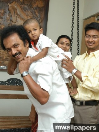 M. K. Stalin (Mu Ka Stalin) HD Photos with Kalaignar Karunanidhi (1080p)