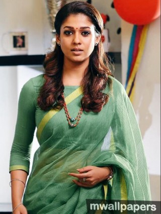 Beautiful Nayanthara HD Photos in Saree (1080p)