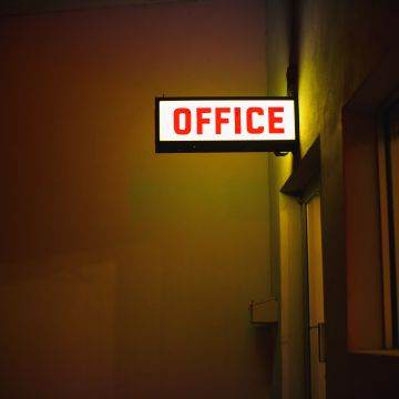 Office Plate Neon Light  - Android / iPhone HD Wallpaper Background Download HD Wallpapers (Desktop Background / Android / iPhone) (1080p, 4k)