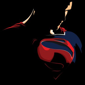 Superman Minimalism Logo - Android / iPhone HD Wallpaper Background Download HD Wallpapers (Desktop Background / Android / iPhone) (1080p, 4k)