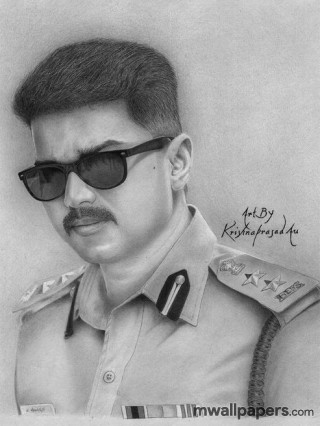 Vijay HD Images and Drawing Sketches