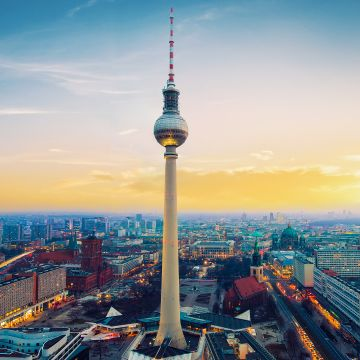 Berlin City View From Top - Android / iPhone HD Wallpaper Background Download HD Wallpapers (Desktop Background / Android / iPhone) (1080p, 4k)