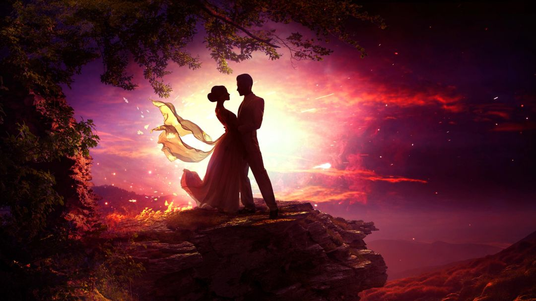 Dancing Couple In Moonlight - Android / iPhone HD Wallpaper Background Download HD Wallpapers (Desktop Background / Android / iPhone) (1080p, 4k) (773406) - Love