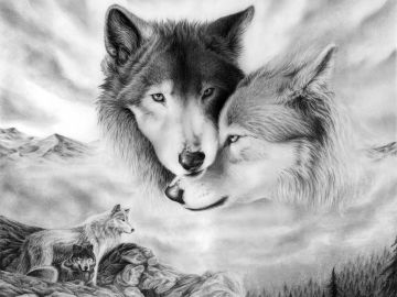 Wolf Wallpaper 1600x1200 Love Wallpaper 3D For Desktop Picture - Android / iPhone HD Wallpaper Background Download HD Wallpapers (Desktop Background / Android / iPhone) (1080p, 4k)