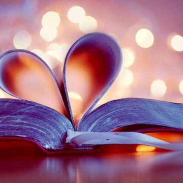 Book Heart Love Page Art Light Abstract Wallpaper - Android / iPhone HD Wallpaper Background Download HD Wallpapers (Desktop Background / Android / iPhone) (1080p, 4k)
