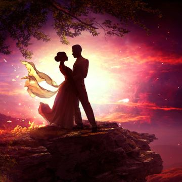 Dancing Couple In Moonlight - Android / iPhone HD Wallpaper Background Download HD Wallpapers (Desktop Background / Android / iPhone) (1080p, 4k)