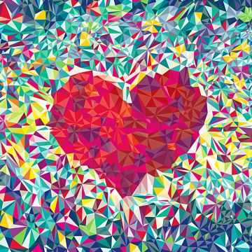 Download Heart Pattern Prismatic Art Love Wallpaper for desktop - Android / iPhone HD Wallpaper Background Download HD Wallpapers (Desktop Background / Android / iPhone) (1080p, 4k)