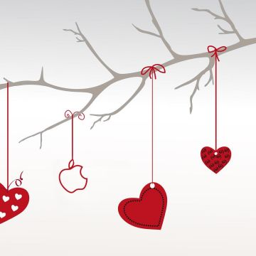 Download Wallpaper 1920x1080 valentines day, hearts, branch - Android / iPhone HD Wallpaper Background Download HD Wallpapers (Desktop Background / Android / iPhone) (1080p, 4k)