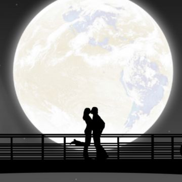 Full Moon Night Couple Kiss - Android / iPhone HD Wallpaper Background Download HD Wallpapers (Desktop Background / Android / iPhone) (1080p, 4k)