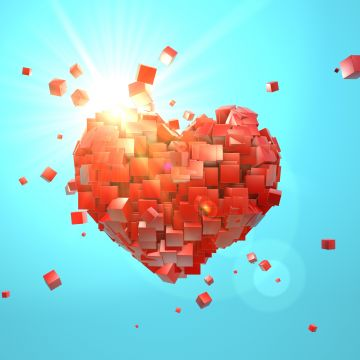 Heart Explosion Love Red Abstract Valentine Day - Android / iPhone HD Wallpaper Background Download HD Wallpapers (Desktop Background / Android / iPhone) (1080p, 4k)
