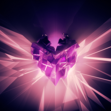 High Resolution Pink Abstract Love Heart Purples - Android / iPhone HD Wallpaper Background Download HD Wallpapers (Desktop Background / Android / iPhone) (1080p, 4k)