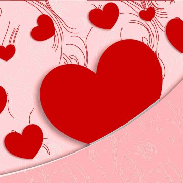Love Heart Shape Paper Greetings For Valentine Day Wallpaper - Android / iPhone HD Wallpaper Background Download HD Wallpapers (Desktop Background / Android / iPhone) (1080p, 4k)