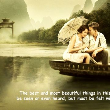 Love Quotes Wallpaper -Romantic Couple Image with Quotes - Android / iPhone HD Wallpaper Background Download HD Wallpapers (Desktop Background / Android / iPhone) (1080p, 4k)