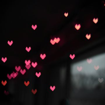 Pink Little Heart Bokeh Lights - Android / iPhone HD Wallpaper Background Download HD Wallpapers (Desktop Background / Android / iPhone) (1080p, 4k)