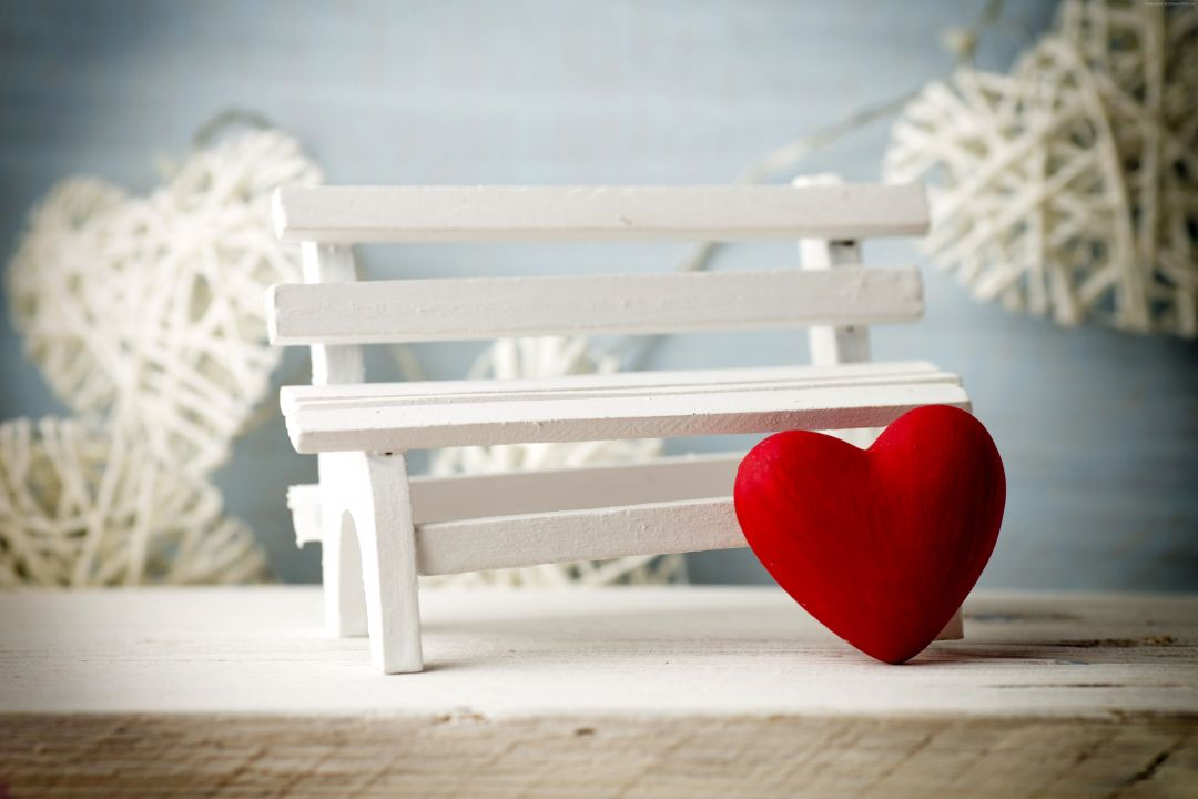 Wallpaper Valentines Day, heart, decorations, romantic, love, bench - Android / iPhone HD Wallpaper Background Download HD Wallpapers (Desktop Background / Android / iPhone) (1080p, 4k) (767397) - Love