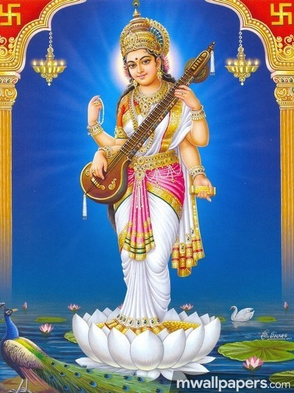 God Saraswati Best HD Photos (1080p) (14374) - God Saraswati
