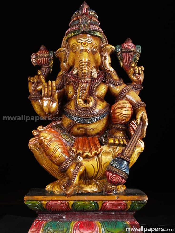 660+ Lord Ganesha HD Wallpapers/Images (1080p) (736x981 ...