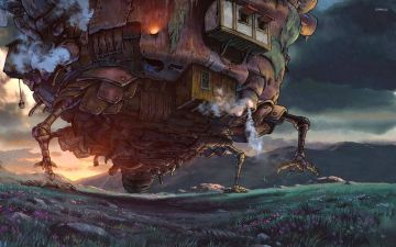 Howls Moving Castle HD Wallpapers (Desktop Background / Android / iPhone) (1080p, 4k)